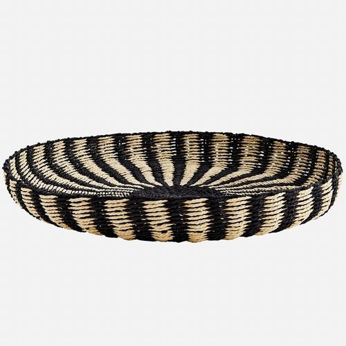 Découvrez ce très beau plateau en corde de couleurs noire et
