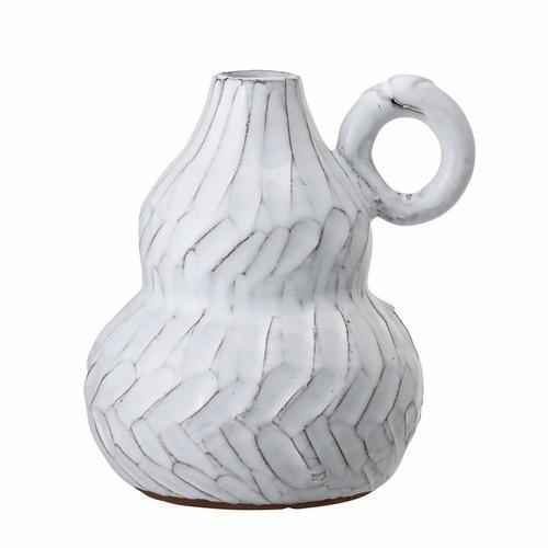 Tombez sous le charme de ce joli vase décoratif blanc