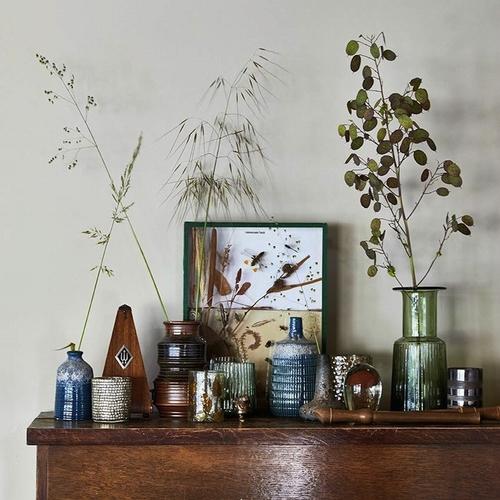 Joli vase brun rétro en céramique de la marque HK Living.