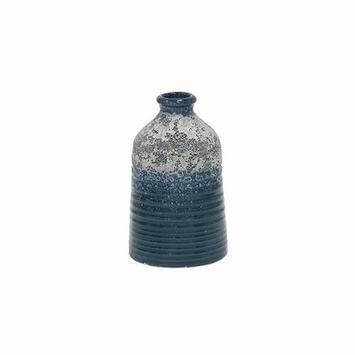 Magnifiez vos fleurs avec ce petit vase bleu et gris en