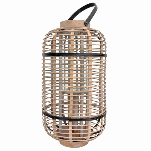Optez pour cette magnifique lanterne en bambou avec vase /