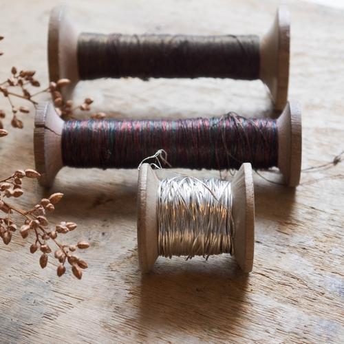 Lot de 3 bobines vintage: 1 bobine de fil mordoré: 11cm