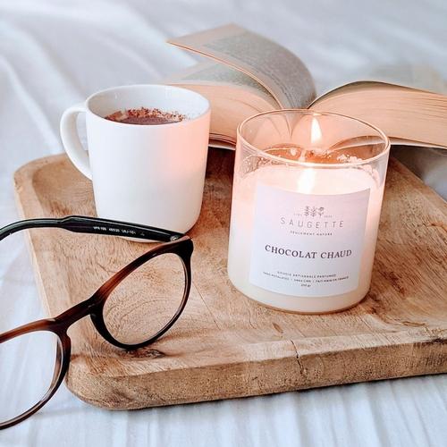 Chocolat chaud - Bougie artisanale parfumée à la cire