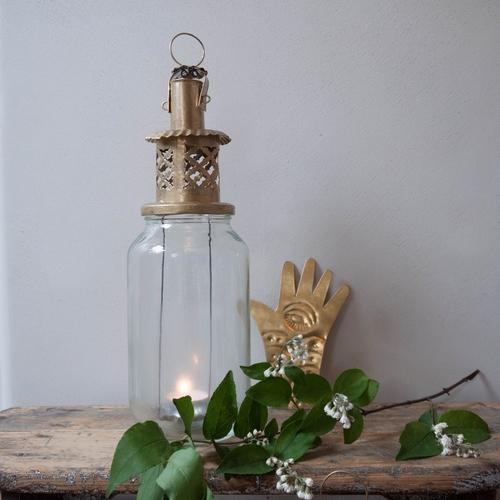 Lanterne magique, provenant du recyclage de pots de