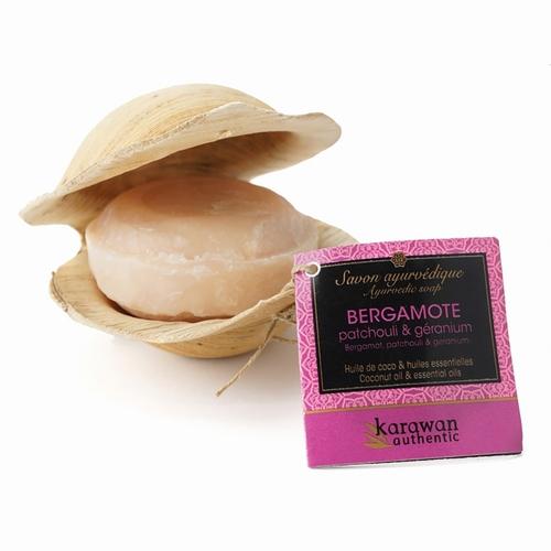 Savon ayurvédique Bergamote Régénérant - 100g Huile de noix