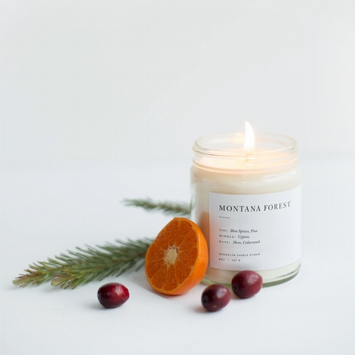 BOUGIE MONTANA FOREST, 50 H. De la marque Brooklyn candle