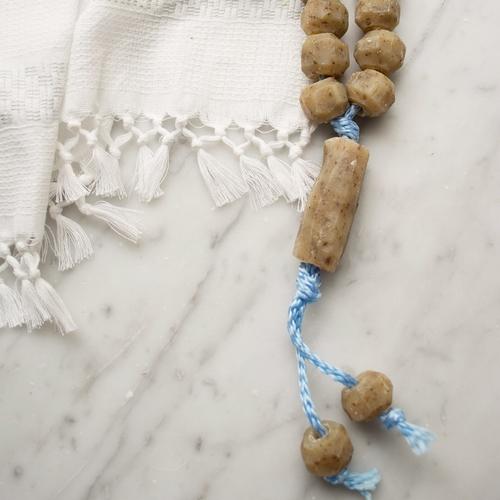 Chapelet de savon d'olive parfumé à la menthe Savon