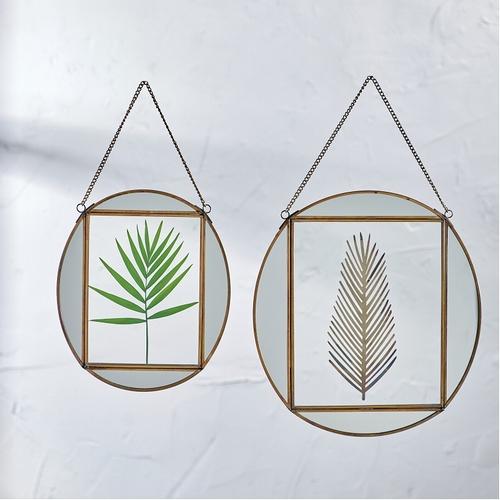 Découvrez ce magnifique petit cadre miroir Teema oval de la