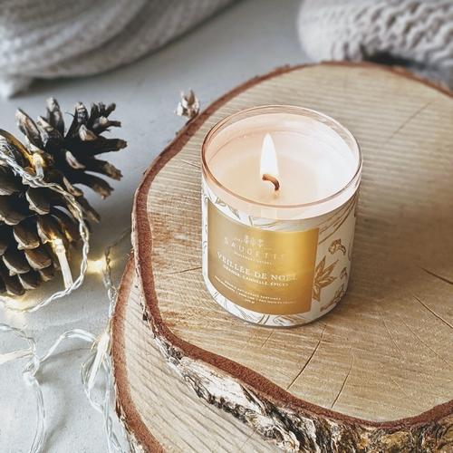 Veillée de Noël 200g - Bougie artisanale parfumée à la cire