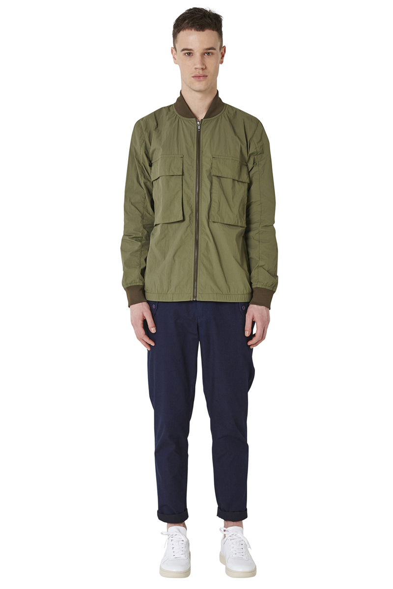 - Crumpred nylon bombers - Water-repellant and waterproof -