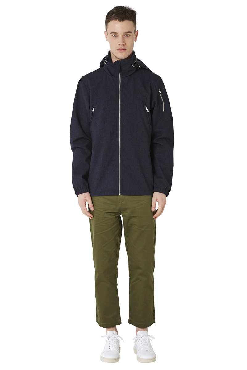 - Technical polyester laminated jacket - Textured