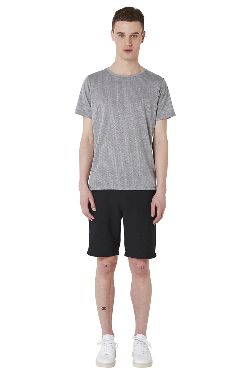 - Jacquard pattern T-Shirt - Round collar - Straight fit