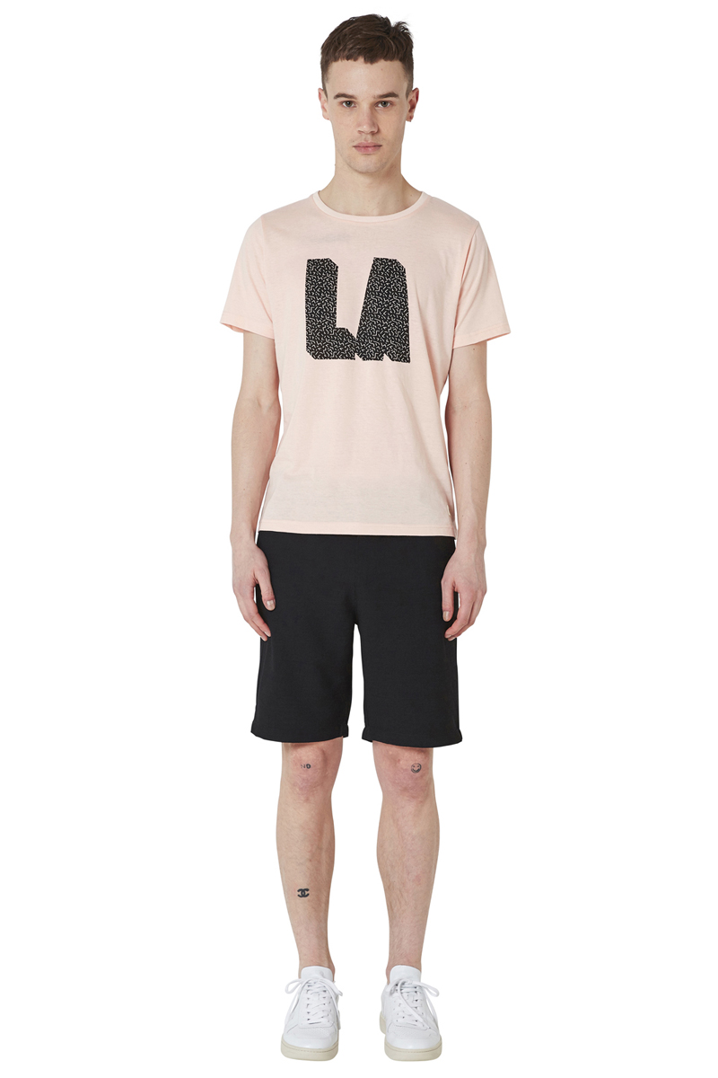 - Graphic LA T-Shirt - Round collar