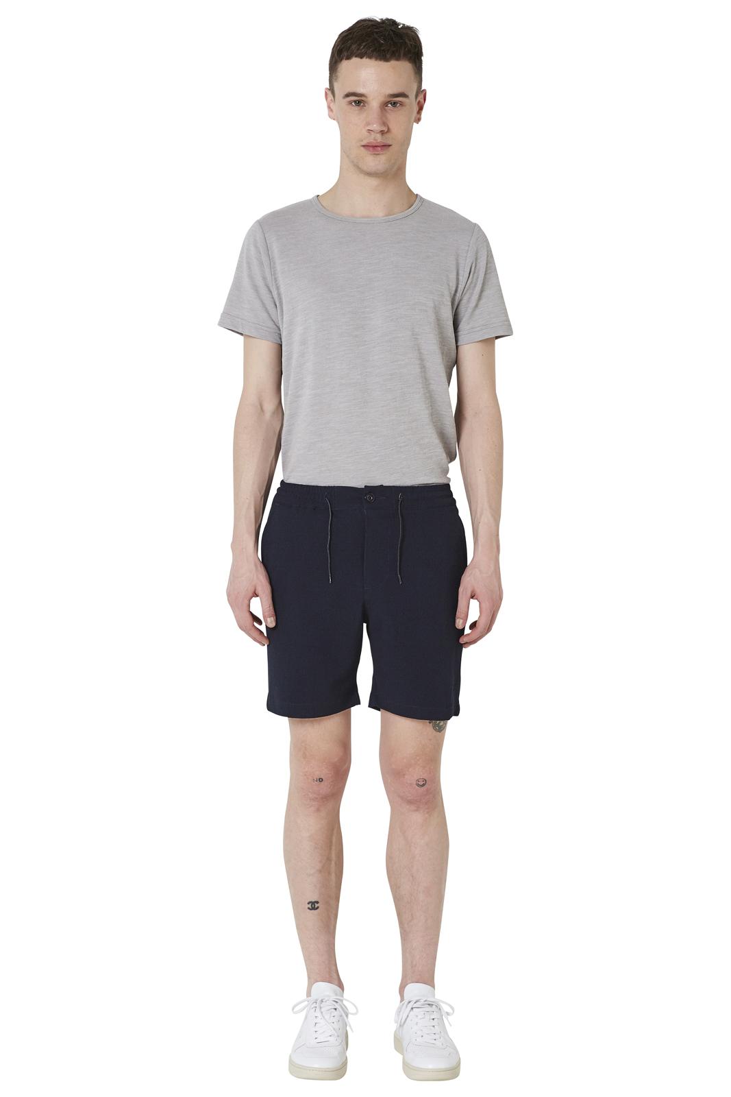- Seersucker effect bermuda - Slim fit - Elastic waistband