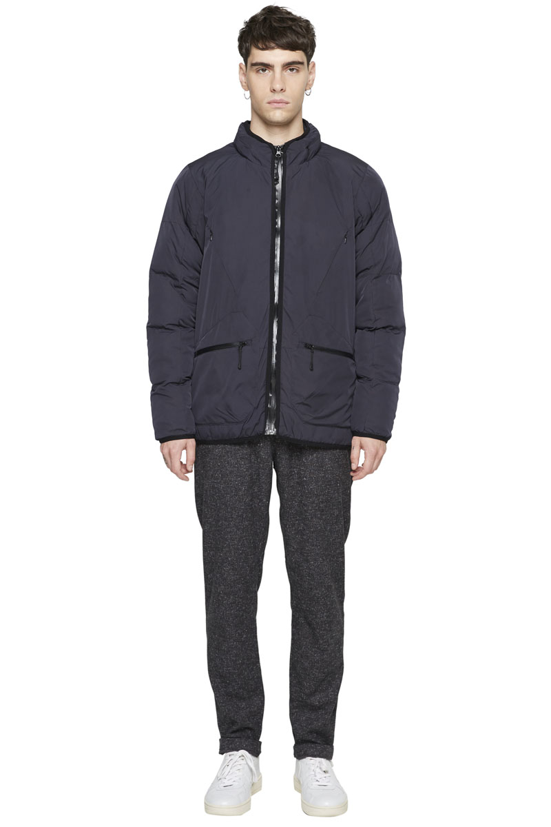 - Technical quilted nylon and polyester jacket - Waterproof