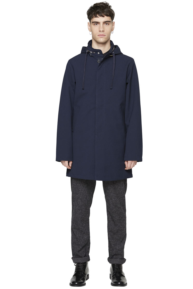 - Technical cotton and polyester laminated parka -
