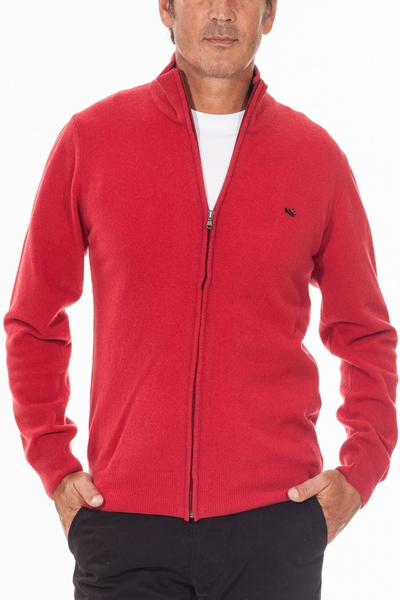 OLD RIVER - PULL LAMBSWOOL JACKET ZIPPÉ