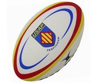Ballon replica de rugby de l' équipe de l' USAP. Taille 5.