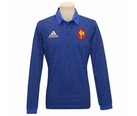 Nouveau polo de rugby Adidas officiel du XV de France,