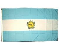Drapeau officiel de l' Argentine. Dimensions : 1M60 X 90 CM.