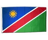 Drapeau officiel de la Namibie. Dimensions : 1M60 X 90 CM.