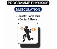 Séance de musculation en salle. Séance d'une heure