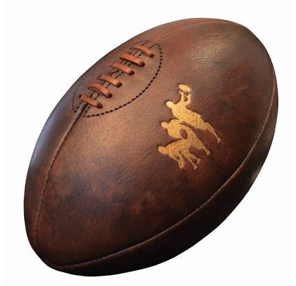 Ballon rugby cuir vintage 4p - Ballon de rugby cuir ...