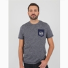 T-shirt manches courtes en jersey coton chiné. Bord côte à