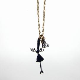 Sautoir -Long collier Bigoudène Couleur : Couleur Bronze