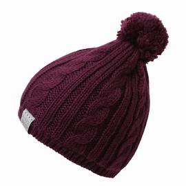 Bonnet avec pompon. en laine acrylique. Etiquette tissée sur