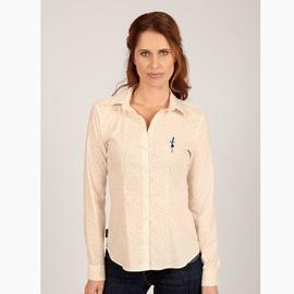 Chemises manches longues en coton élasthanne. Col chemisier