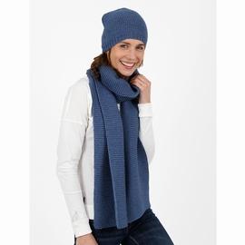 Echarpe en laine acrylique. Etiquette tissée au bas de