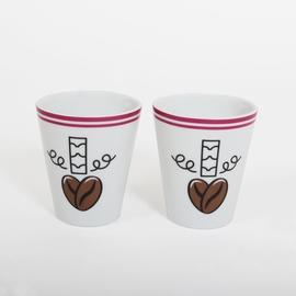 Coffret 2 mugs EXPRESSO avec packaging inclus.<br>Hauteur: