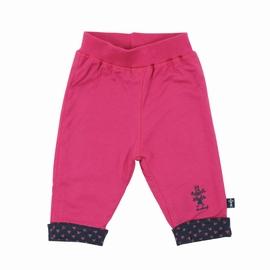 Pantalon en jersey coton. Taille élastiquée. Revers en bas