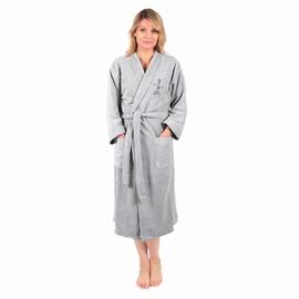 Peignoir col Kimono en éponge bouclette 500g/m2. Eponge