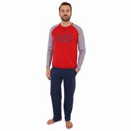 Pyjama en jersey coton.<br>T-shirt manches raglan. Encolure