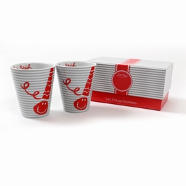 Set comprenant 2 mugs expresso avec packaging inclus.
