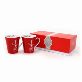 Set de 2 mugs avec packaging inclus. <br>Hauteur: 10cm