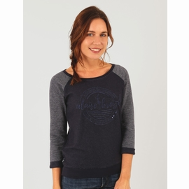 Sweat en molleton fin. Manches 3/4 avec revers en bas de