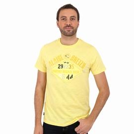 T-shirt manches courtes en jersey coton slub. Encolure