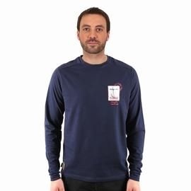 T-shirt manches longues en jersey coton slub. Encolure