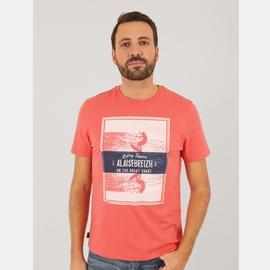 T-shirt manches courtes en jersey coton. Bord côte à