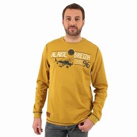 Tshirt manches longues en jersey coton. Encolure arrondie