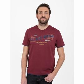 T-shirt manches courtes en jersey coton slubbé. Encolure V,