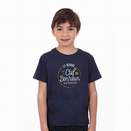 T-shirt manches courtes en jersey coton. Col arrondi bordé