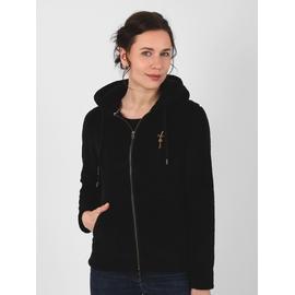 Veste zippée en sherpa. Cordon de serrage à la capuche.