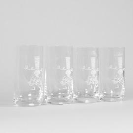 Coffret de 4 verres à Jus de Fruits en cristallin avec la