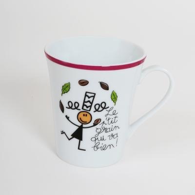 coffret contenant un mug avec le packaging inclus.