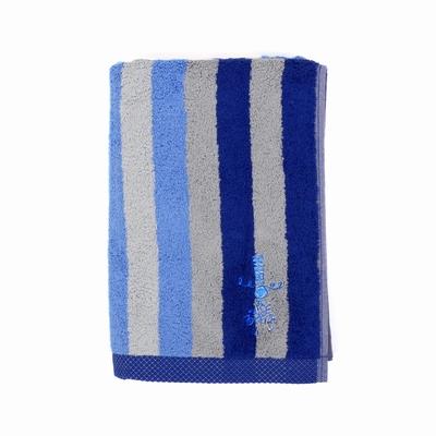 Le pack est composé d'une grande serviette rayée (70x140cm),