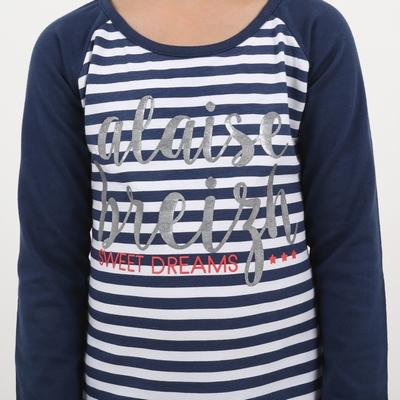 Pyjama en jersey coton élasthanne.<br>T-shirt manches